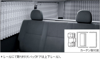 Шторка салона (одинарная), (плиссированная) для Toyota HIACE KDH211K-KRPEY (Дек. 2013–Янв. 2015)