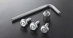 Секретный болт (для рамки номера) для Toyota VITZ KSP90-AHXDK (Сент. 2008–Авг. 2010)
